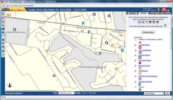 MetroWatch Louisville Crime Map from www.LOJIC.org Louisville Crime Data Reports