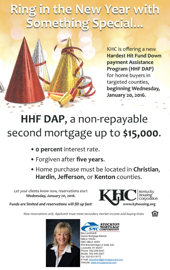 KHC Hardest Hit Fund Down Payment Assistance Program Coming January 2016