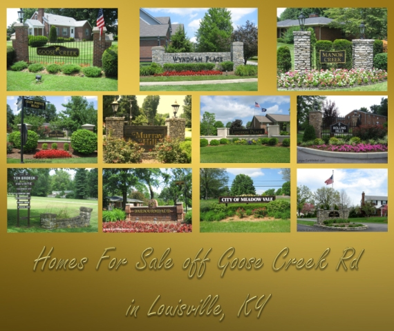 Homes For Sale off Goose Creek Rd Louisville KY Brownsboro Rd to Westport Rd