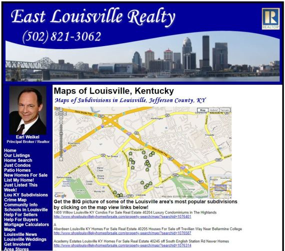 Map_of_Louisville_KY_Houses_Condos_Patio_Homes_For_Sale_East_End