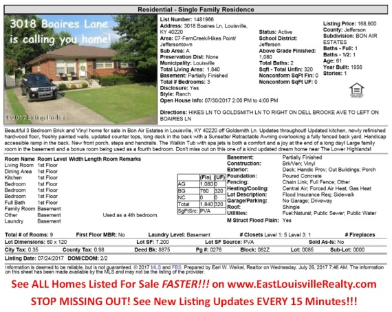 Homes For Sale 40220 Homes For Sale In Louisville Ky